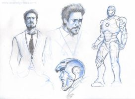 Iron Man sketch 02 by Claudia-SG