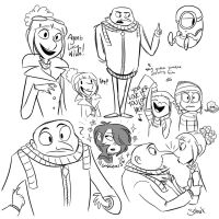 DESPICABLE DOODLES by CatnipPacket