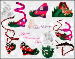 Alice in Wonderland Shoes by miss-bunny-shoes