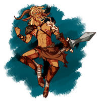 Barbarian faun by KuroKomui
