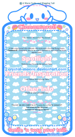 FREE JOURNAL SKIN: Cinnamoroll (V.1) by Crystal-Moore
