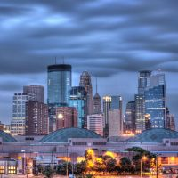Minneapolis Skyline Dawn HDR by 5isalive