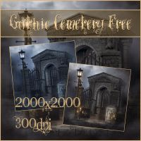 Gothic Cemetery Free by moonchild-ljilja