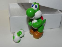 Yoshi and Yoshi Eggs Necklace and Earrings Set, Su by Secretvixen