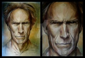 Clint Eastwood by Anna-Mariaa