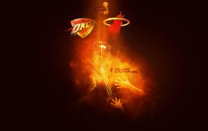 2012 NBA Finals Trophy Wallpaper by rhurst