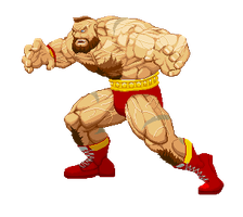 SFA Zangief remake by Niewidomy