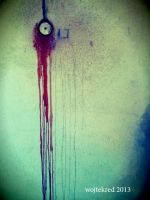 Bloody wall by psychodelic-candy