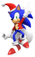 Christmas Sonic 2014 Render by NIBROCrock