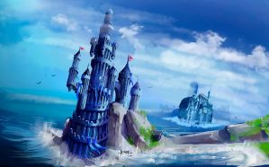 Blue Castle by Ivanuss