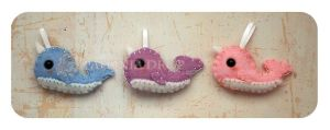 Minis Set 3 - Pastel Narwhals by ShadowedPorcelain