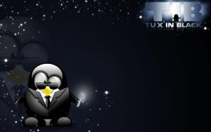 Tux In Black by PsikoPower
