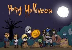 Halloween Commission For Pallas001 by ShamanEileen