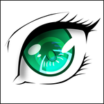 Beautiful green eye by Tuccifml