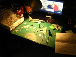 1/48 Scale JAS-39A/C Progress (A big mess) by Coffeebean2