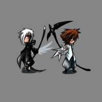Twin Scythes_Chibi by kaizer33226