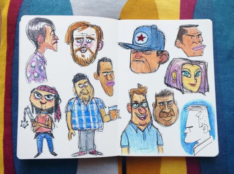 Sketching people's faces - round 2 by ClaudioNaccari
