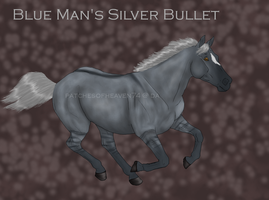 Blue Man's Silver Bullet-4Stud by patchesofheaven74