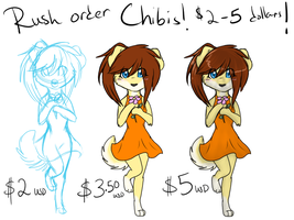 Rush Order - Chibis! $2 to $5 USD! by LindsayPrower