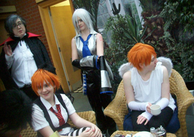 Cosplay gathering in a tea room by CrystaltheEchidna01