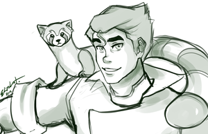 Bolin and Pabu Lines by ElizaLento