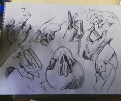 hand sketches by meesetrax