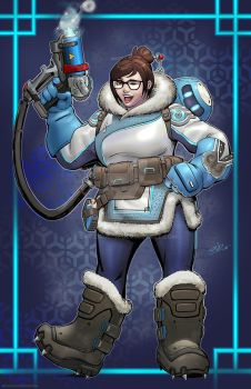 Mei Overwatch art by SaviorsSon