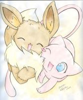 Mew and Eevee