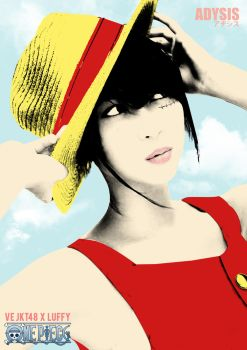 Ve JKT48 as Luffy One Piece by adysis