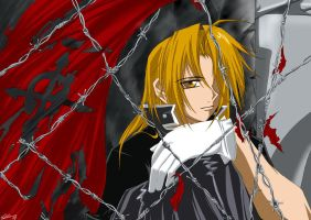 FMA - Behind barbed fences by twinklee