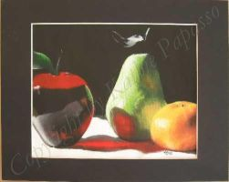Fruit Trio with Matting by KMAP3156