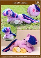 Sleeping Twilight Sparkle plushie by Ryoko-demon