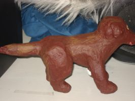 Paper Mache Dog by Lyndsey-Catastrphe