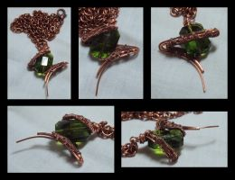 Green Glass in Copper by ACrowsCollection