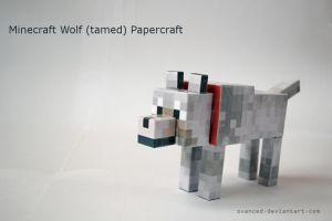 Minecraft Wolf (tamed) Papercraft +DOWNLOAD by svanced