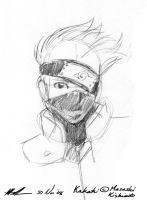 Pencil Sketch - Kakashi by sharem