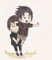 The Uchiha Brothers by ricecuni