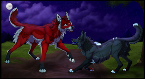 Midnight Canines by xBloodShadow
