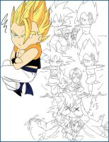 chibi fusion Gogeta by MamaCharms