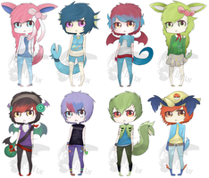 Pokemon Gijinka Adoptables (CLOSED) by DragonA7X