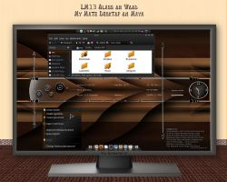 LM13 - Glass on Wood. My Mate Desktop by rvc-2011