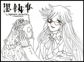 Grell Smile - lineart by Sayornara