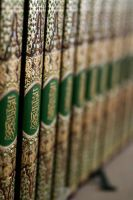 Qur'ans in a shelf by Asurawolf