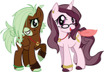 .:MLP: Cocoamint and Whimsy:. by Goddess-of-BUTTSECKS