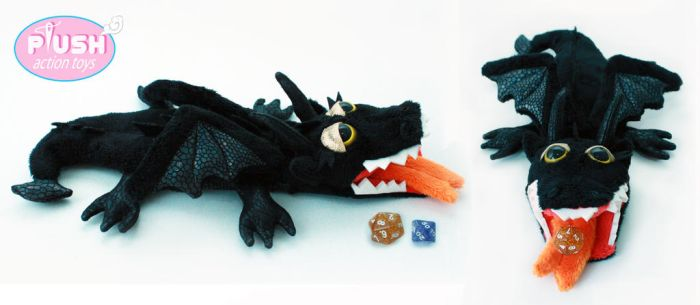 Dungeons and Dragons Plushie Dragon Dice Bag by PlushActionToys