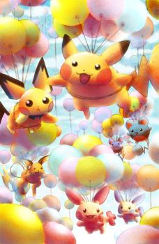 Pikachu and Friends by DrunkPugs