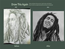 Draw This Again: Bob Marley by carlosvelasquezart