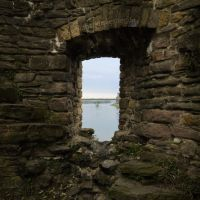 Window in medieval tower ruins by Acrylicdreams