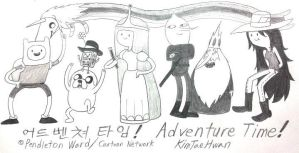 Adventure Time! (and Korean Ver.) by komi114