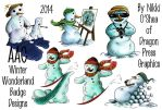AAC Winter Wonderland Badge Collage by DragonPress